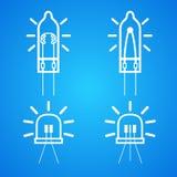 Żarówka wiele różny ikona set ilustracji