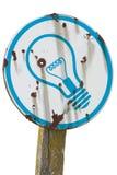 żarówki światła znak Zdjęcie Royalty Free