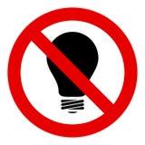 żarówki światło żadny znak Obraz Royalty Free