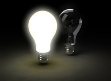 żarówki światło dwa Obraz Stock