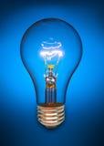 żarówki błękitny światło Zdjęcie Stock