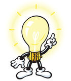 żarówki charakteru światło Zdjęcia Stock