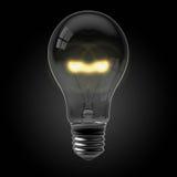 żarówki czarny światło Obraz Stock