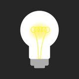 żarówki czarny światło Zdjęcie Stock