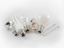 żarówki elektryczne światło Fotografia Royalty Free