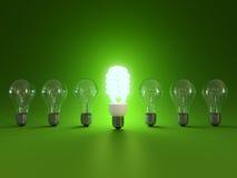 żarówki energii światła oszczędzanie Obrazy Stock