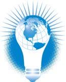 żarówki globe światło Zdjęcia Stock