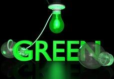 żarówki idą zielone światło Zdjęcie Stock