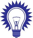 żarówki ikony światło Obraz Royalty Free
