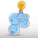 żarówki inkasowego projekta elementów ikon pomysłu światła loga ustalony szablonu wektor Fotografia Royalty Free