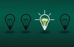 żarówki inkasowego projekta elementów ikon pomysłu światła loga ustalony szablonu wektor Zdjęcia Stock