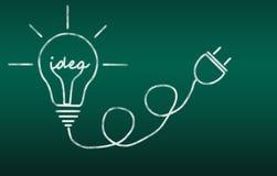 żarówki inkasowego projekta elementów ikon pomysłu światła loga ustalony szablonu wektor Obraz Stock