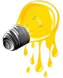 żarówki kapiący energii światło Zdjęcie Stock