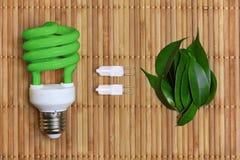 żarówki pojęcia eco energii światło Zdjęcia Stock