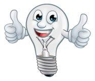 Żarówki postaci z kreskówki Lightbulb maskotka ilustracji