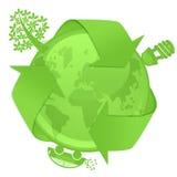 żarówki samochodowego eco energetyczny kuli ziemskiej hybrydu drzewo Obraz Royalty Free