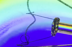 żarówki tło białe światła elektrycznego Obrazy Stock