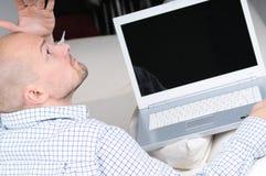 żarcie komputerowy kłopot Fotografia Stock