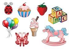 żartuje cukierki zabawki ilustracja wektor