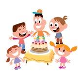 Żartuje przyjęcia urodzinowego ilustracja wektor