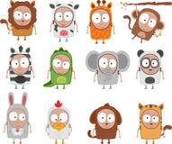 Żartuje zwierzęcych kostiumy royalty ilustracja