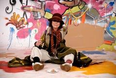żeńscy graffiti drałują miastowego Obraz Royalty Free