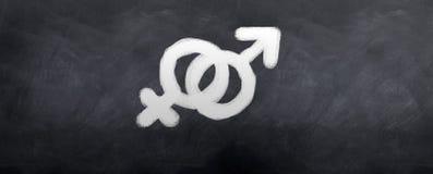 żeńscy męscy symbole Zdjęcie Royalty Free