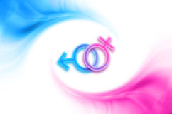 żeńscy męscy symbole Fotografia Royalty Free