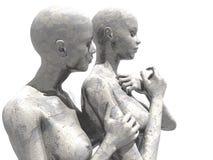 Żeńscy mannequins royalty ilustracja