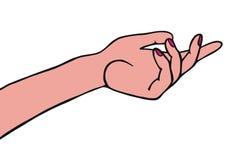 żeńska ręka ilustracji