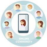 Żeńska ` s online społeczność ilustracji