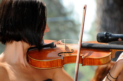 żeńska skrzypaczka Fotografia Royalty Free