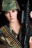 żeński żołnierz Zdjęcia Stock