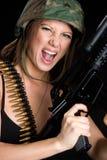 żeński żołnierz Fotografia Stock
