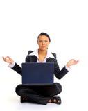 żeński biurowy relaksujący pracownik Obraz Stock