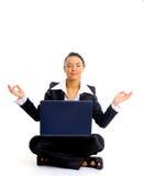 żeński biurowy relaksujący pracownik Obraz Royalty Free