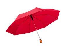 żeński czerwony parasol Zdjęcia Royalty Free
