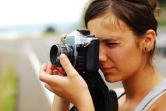 żeński fotograf Zdjęcia Stock
