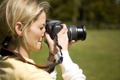 żeński fotograf Zdjęcie Royalty Free