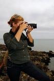 żeński fotograf obraz stock