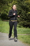 Żeński jogger fotografia stock