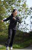 żeński jogger zdjęcia stock