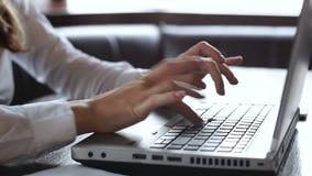 Żeński księgowość urzędnik pracuje na laptopie, kalkulatorskim firma debecie i kredycie, zbiory