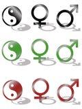 żeński męski symbolu Yang yin Obraz Stock