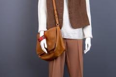 Żeński mannequin z mod akcesoriami Zdjęcia Stock