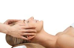 żeński masażu zamknięty żeński dostawanie fotografia royalty free