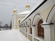 żeński monasteru novo tikhvin Obraz Royalty Free