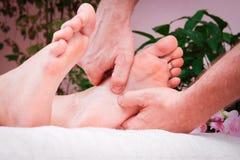 Żeński nożny masaż Obraz Royalty Free