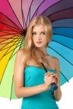 żeński parasol Obrazy Royalty Free