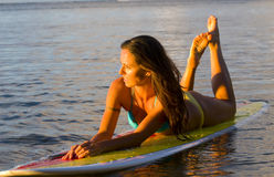 żeński surfingowiec zdjęcia stock